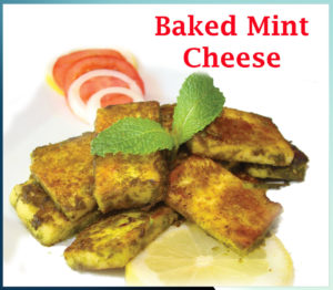 Baked Mint Cheese