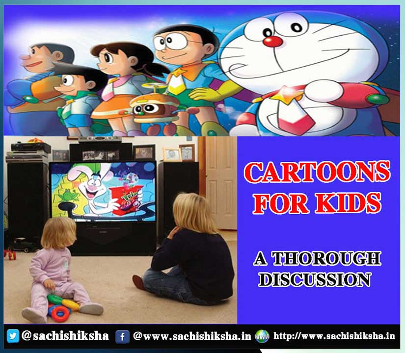 indian children remain more than 1100 hours in front of tv in a year it is also said that to make a cartoon and to understand
