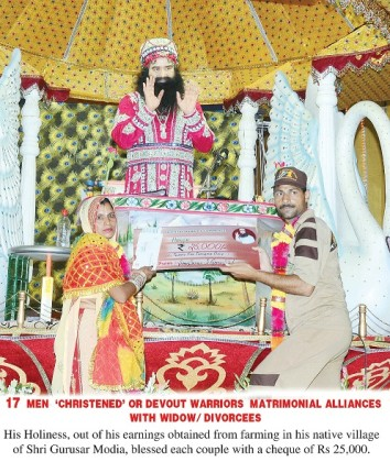 Spiritual congregation on the pious day