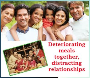 Deteriorating meals together, distracting relationships