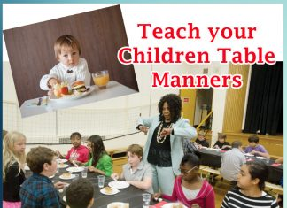 Teach your children table manners