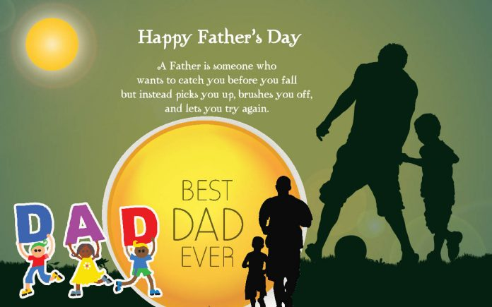 Father is like a huge Tree under whose shade we grow FATHER'S DAY : JUNE 19
