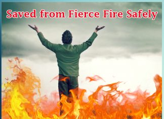 Saved from Fierce Fire Safely