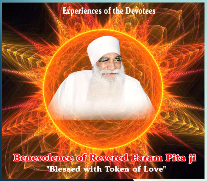 Benevolence of Revered Param Pita ji Blessed with Token of Love