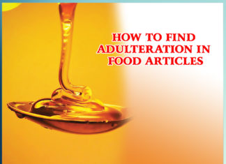 HOW TO FIND ADULTERATION IN FOOD ARTICLES - Sachi Shiksha