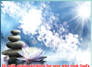 He will attain salvation for sure who took God's words from the spiritual Master