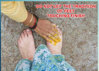 DO NOT LET THE TRADITION OF FEET TOUCHING FINISH