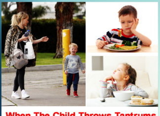 When the child throws tantrums in eating