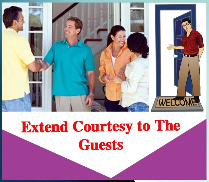 Extend Courtesy to the Guests - Sachi Shiksha