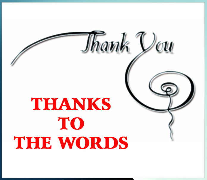 THANKS TO THE WORDS