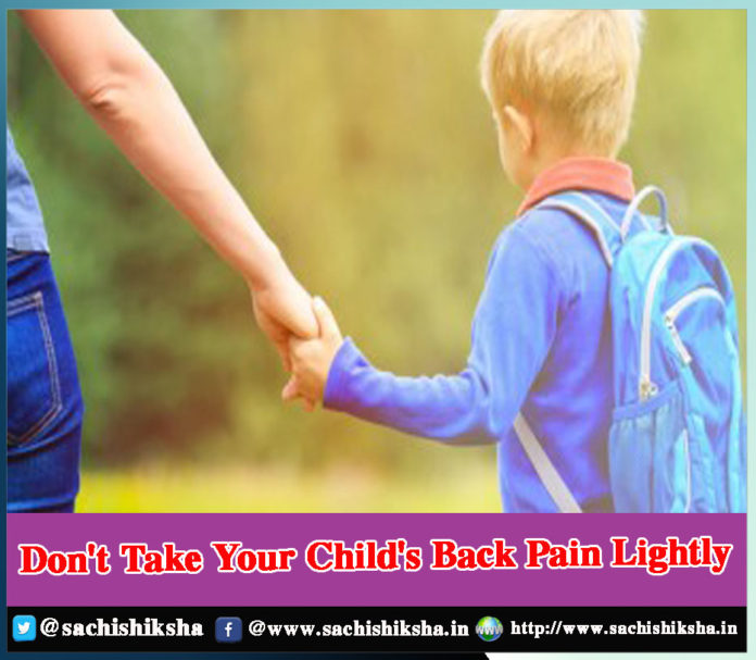 Don't Take Your Child's Back Pain Lightly