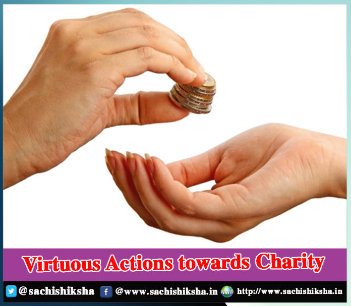 Virtuous Actions towards Charity