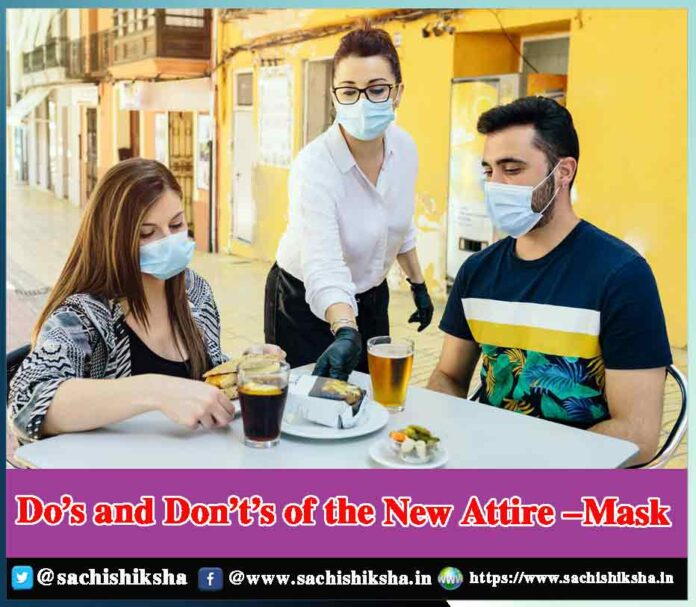 Do's and Don't's of wearing a face mask - Sachi Shiksha